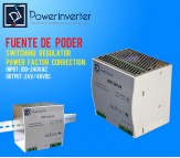 FUENTE DE PODER - SWITCHING POWER 100-240VAC /24VDC  10A (240W) RIEL DIN