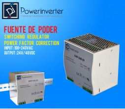 FUENTE DE PODER - SWITCHING POWER 100-240VAC /48VDC  20A (960W) RIEL DIN
