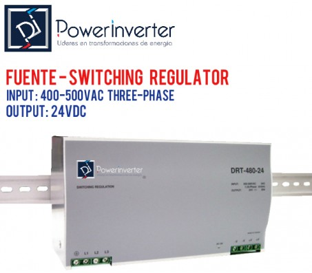 FUENTE DE PODER - SWITCHING POWER 380VAC /24VDC 20A (480W)