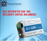 RELE INTERRUPTOR GSM - SMS INTELIGENTE CONTROL INALAMBRICO 1 CANAL - CL1-GSM