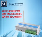 RELE INTERRUPTOR GSM - SMS INTELIGENTE CONTROL INALAMBRICO 4 CANAL