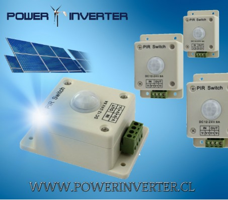 SENSOR DE MOVIMIENTO LED 12V/24VDC 8A